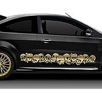 2x Autoaufkleber Motorad Sticker Car Tuning Dekor Shocker 30cm in neonpink