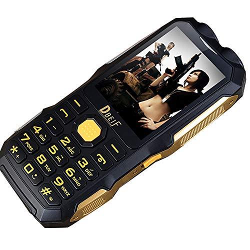 EUCoo Telefono Cellulare Uso Esterno, Torcia FM, Alimentatore Resistente agli Urti e duraturo,Mp3/Mp4 Funzione Uomo Anziano con Il Cellulare