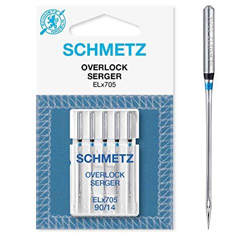 SCHMETZ Nähmaschinen-Nadeln ELx705 | 5 Overlock-Nadeln | Nadeldicke: 90/14 -