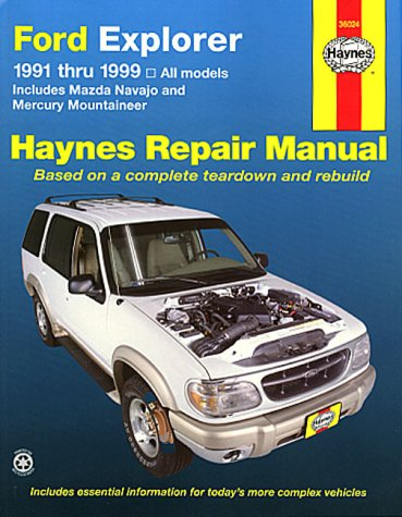 Ford Explorer, Mazda Navajo and Mercury Mountaineer (1991-1999) Automotive Repair Manual (Haynes Automotive Repair (Ford Explorer Manuale)