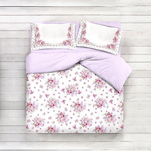 Telo arredo copritutto 2 misure prodotto italia foulard multiuso floreale classico fiori floreale rosa bianco