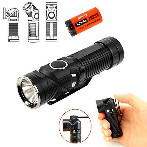 Preisvergleich Produktbild Rofis R1 EDC Taschenlampe / Stirnlampen 900 Lumen CREE XM-L2 U2 LED Multifunktionale magnetische USB wiederaufladbare verstellbare Taschenlampe/Winkellicht draussen kleine Taschenlampen/Scheinwerfer