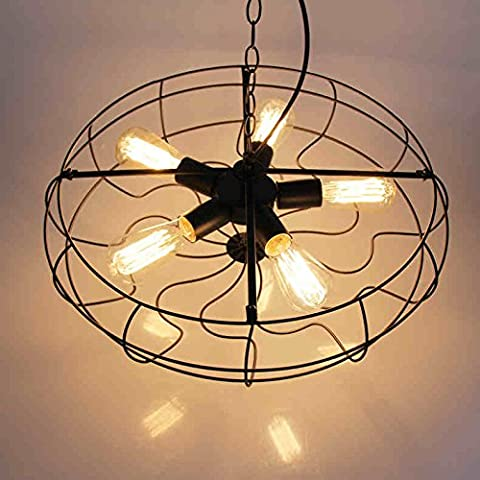 Ferro da stiro Art Nouveau personalità Cheliers Arte Cheliers ventole ed elegante Soggiorno Camera da letto lampada da studio Chelier ristorante con Creative
