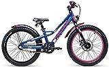 S'Cool faXe Alloy 20R 3-S Kinder Fahrrad (26cm, Blue/pink matt)