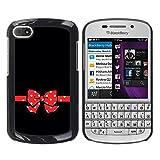 WonderWall Fondo De Pantalla Imagen Diseño Trasera Funda Carcasa Cover Skin Case Tapa Para BlackBerry Q10 - ratón dot codazo rojo minimalista negro