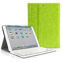 iPad MINI 123 Funda con Teclado Bluetooth ,CoastaCloud iPad MINI 123 Funda Cubierta Protectora con Teclado Inalambrico QWERTY Español para Apple iPad mini (A1432 A1454 A1455 ) iPad mini 2 (A1489 A1490 )iPad mini 3 (A1599 A1600 A1601)Verde