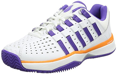 K-Swiss Performance Damen Hypermatch HB Tennisschuhe, Weiß (White/Purple/Orange), 39 EU (K-swiss Purple Schuhe)