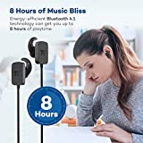 Bluetooth Earphones ,TaoTronics Wireless Sports In ear headphones with Bluetooth 4.1 for an Extra-Stable Connection & 8 Hours of Playtime,Compatible with Most Popular Smartphones & Tablets