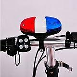 Mttheaw 6LED luce 4suoni Unqiue di polizia auto Trumpet Cycling Horn Bell