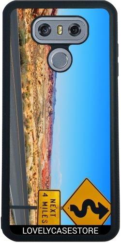 SilikonHülle für LG G6 - Straße USA USA Drehen Vereinigte Staaten Wüste Arid Sun Sky Blue