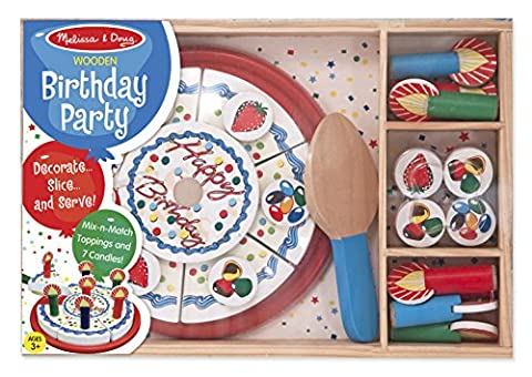 SABLON 511 - Melissa & Doug - Geburtstagsparty-Set (34-teilig)