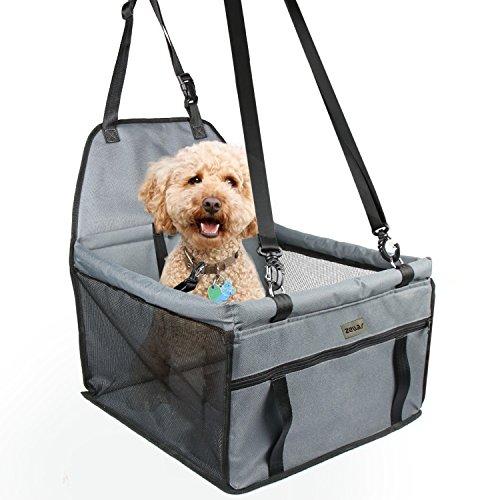 Zellar Pet Autositz für Hunde und Katzen, atmungsaktive Wasserdichte Sitzbezug mit Sicherheitsleine, kleine Hundewelpe Reise Car Protector Tragetasche