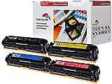 4er Pack Toner patrone für Canon I-Sensys LBP-7100 , LBP7110 , MF8230 , MF8280 CRG731 (2.400 seiten schwarz , je farbe 1.500 seiten C,Y,M)