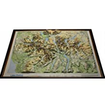 Lake District Raised Relief Map: Dark Wood  Framed (Raised Relief Maps Series)