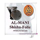 ShiSha Al Mani XXL Alufolie - Folie für Wasserpfeifen rießig - 50 Stk.