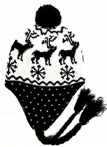 Mütze Eskimo, Motiv Hirsch, schwarz-one size-