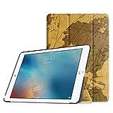 Fintie iPad Pro 9.7 Zoll Hülle - Ultradünne Superleicht Schutzhülle SlimShell Case Cover Tasche Etui mit Auto Schlaf / Wach und Standfunktion for Apple iPad Pro 9.7 Zoll (2016 Modell), Landkarte Braun