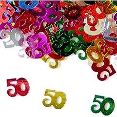 Idea Regalo - Compleanno Tavolo Coriandoli 50 anni multicolore (14 g)