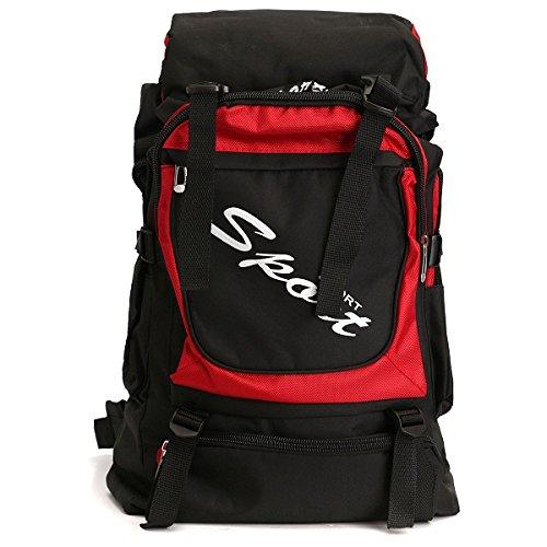 Inovey 60L Anti-Strappo Zaino Unisex Outdoor Trekking Campeggio Viaggio Bagagli Zaino Borsa - Blu Chiaro Rosso