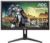 "AOC G2868PQU - Monitor Gaming de 28"" UHD (resolución 3840x2160 Pixeles, 1ms, AMD FreeSync, 60Hz, Altavoces) Color Negro/Rojo"