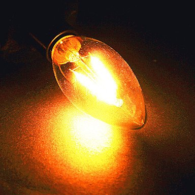 FDH E14 / E26/E27 4W 2*COB 320 lm / blanco cálido, Blanco Natural Lámparas de Vela LED 220-240 V CA, blanco-E26/E27