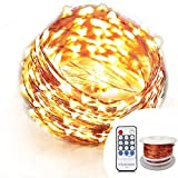 OrgMemory Room Decor Lights, (40 Ft/12M, 120 Leds, Warm White, CE Certified Power Adapter), Fairy Lights, Garland Lights with Remote for Party, Wedding, Xmas, Indoor and Outdoor Decor
