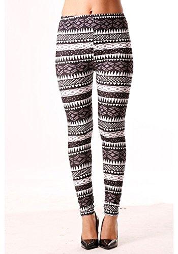 dmarkevous - Legging fantaisie avec imprimés en triangle en gris, noir et blanc Gris