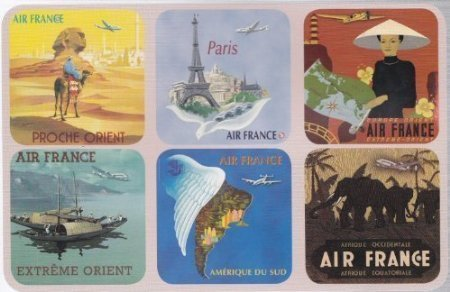 SOUS VERRES SOUS BOCK COLLECTION AFFICHE AIR FRANCE