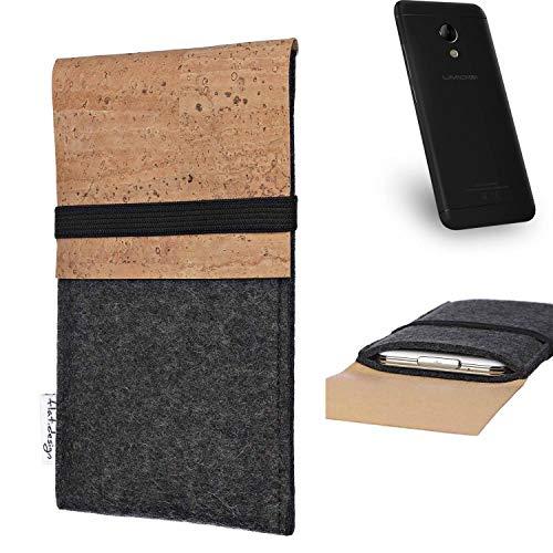 flat.design Handy Hülle SAGRES für UMIDIGI C2 Made in Germany Handytasche Filz Tasche Schutz Case fair Kork