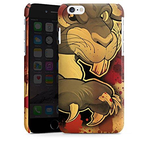 Apple iPhone 5s Housse étui coque protection Tatouage Méchant Lapin Cas Premium brillant