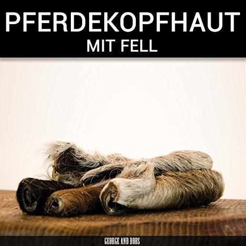 Pferdekopfhaut mit Fell - 1000g - Kopfhaut vom Pferd mit natürlichem Fell - von George and Bobs -