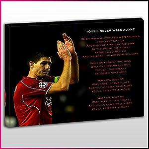 S482 Steven Gerrard You'll Never Walk Alone Lyrics YNWA Legend