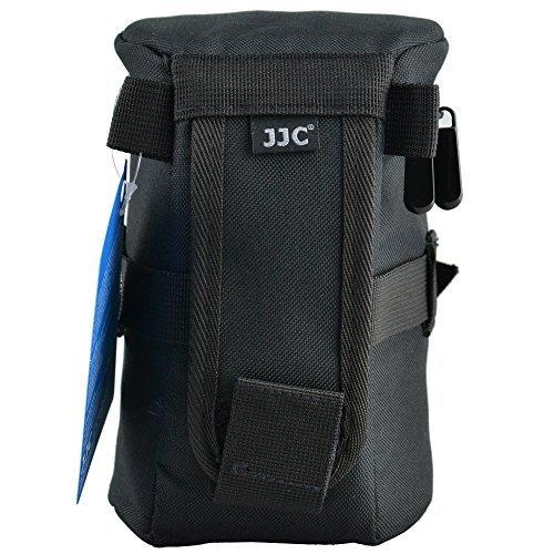 JJC dlp-4100x 170mm wasserabweisend Deluxe Objektiv Tasche mit Gurt–Schwarz