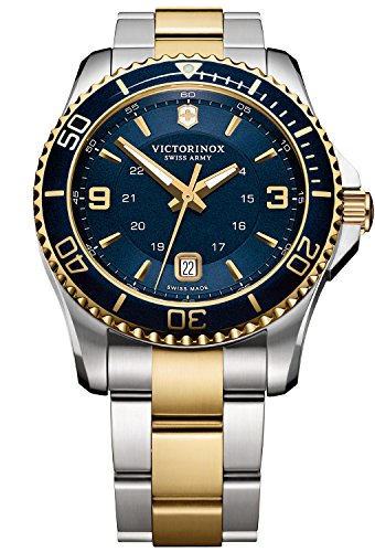 Victorinox Maverick Herren-Armbanduhr 43mm Zwei Ton Batterie 241789