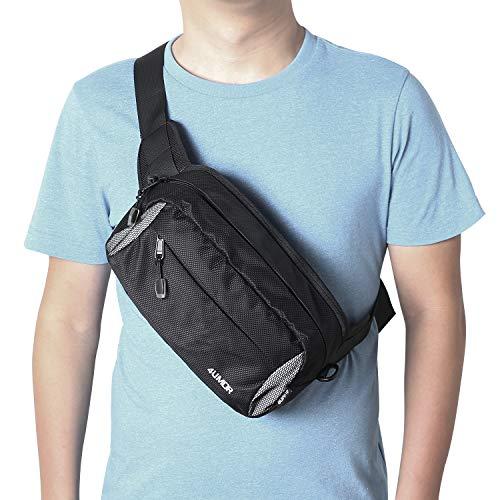 Hommes sac ceinture banane sac à bandoulière en cuir voyage sac de loisirs
