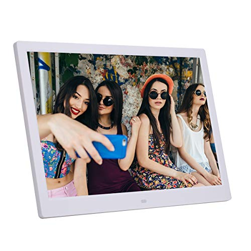 14 Zoll Digital Photo Frame 1280 * 800 HD Ultra-Thin 14 ' ' LED Electronic Photo Album LCD Photo Frame Gift Compatible HDMI mit MP3 Music Video,White - Photo Frame Zoll Digital 14