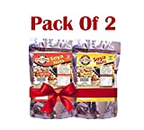 #5: Eat Soya Roasted Soya Nuts Salted + Masala 200gm Combo (Pack Of 2)