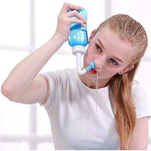 Neti pot , Nasendusche Nasenspülung Nasenreinigung Nase Spülen 500ml Mit Zwei Aufsätze Für Kindern Und Erwachsenen Bei Schnupfen Allergie Trockener Nase