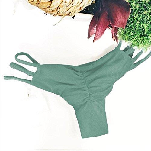 Femmes Maillot de bain,Xjp Bandage Pantalon De Natation Taille Basse 7 Couleurs Vert