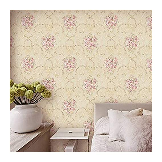 Luke and Lilly Self Adhesive Wallpaper/Wall Sticker with Water Proof - Beautiful Floral-patternDesign (45cm X 500cm)