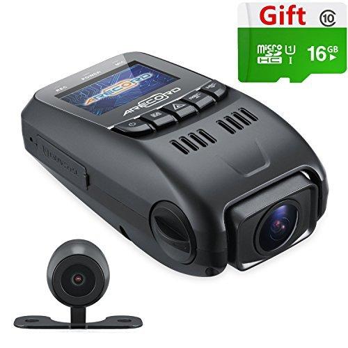 arecord B40D Dual Lens Armaturenbrett Kamera Super Kondensator Auto fahren Recorder 1080P @ 30fps | Novatek nt96655+ Aptina AR0330+ Kamera + keine internen Akku [aufgerüstet von B40b40-c A118C B60]