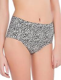 women'secret - Culotte haute de bikini galbante imprimée léopard