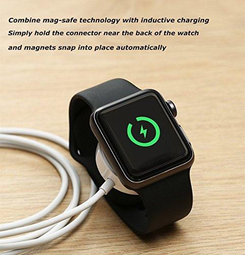 5e802292c0e Apple Watch Charger, MASOMRUM cargador inalámbrico portátil de 1 m ...