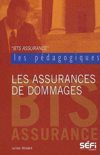 Les assurances de dommages : BTS assurance