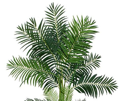 Areca Palme, Kunstpalme 4-stämmig, mit 1017 Textilblätter, Höhe ca. 240cm – Dekopalmen künstliche Palmen