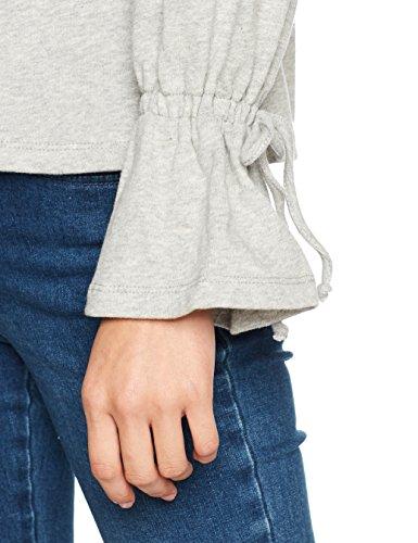 PIECES Damen Sweatshirt Pcmore Ls Sweat Grau (Light Grey Melange Light Grey Melange)