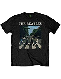 The Beatles Men's Abbey Road and Logo T-Shirt
