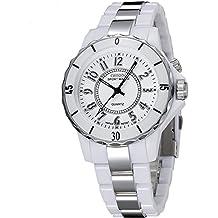 Relojes deportivos impermeables Unisex 7LED multicolor reloj watch-white