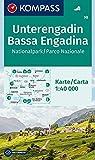 Unterengadin, Bassa Engadina, Nationalpark, Parco Nazionale: Wanderkarte. GPS-genau. 1:40000 (KOMPASS-Wanderkarten, Band 98)