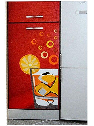 13 tlg. Set XL Wandtattoo Cocktail Orange Wandsticker Cocktailglas Cocktails Aufkleber Wandaufkleber - selbstklebend für Wohnzimmer und Kinderzimmer Deko Sticker